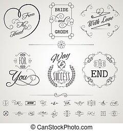 Calligraphy Elements Set
