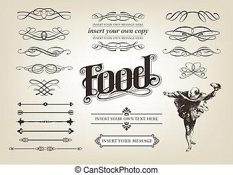 Calligraphy Food Set