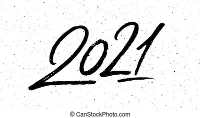Calligraphy for 2021 new year of the ox. 2021 happy new ...