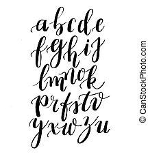 Calligraphy Hand Written Fonts Handwritten Brush Style Modern Cursive Typeface