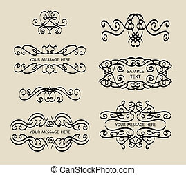 Calligraphy Label Decorations