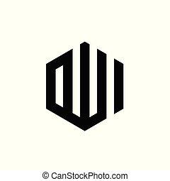 Calligraphy of Allah, Name of the god, Hexagonal logo icon design - vector