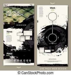 calligraphy one page website template