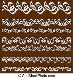 calligraphy ornament frame set-02.eps
