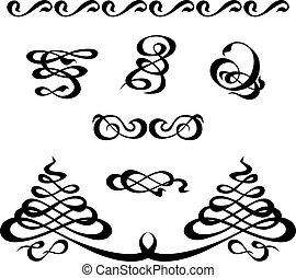 calligraphy ornament set