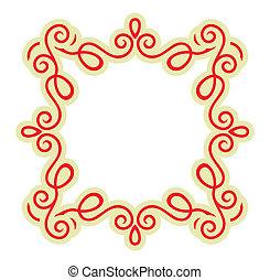 Calligraphy ornamental frame