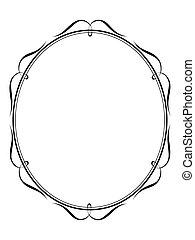 calligraphy ornamental penmanship decorative frame - Vector...