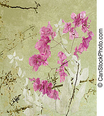 Calligraphy Style Floral Artwork