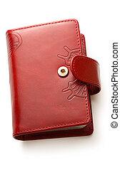 Calling cards leather folder