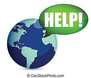 calling for help illustration