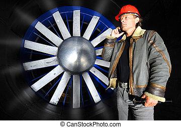 Calling inside a windtunnel