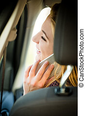 Calling phone in car