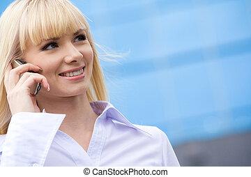 Calling woman