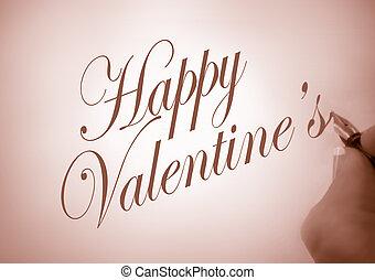 callligraphy, feliz, valentine