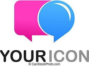 callout, forme, icône, /, logo
