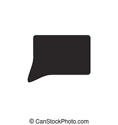callout icon on white background , Vector.