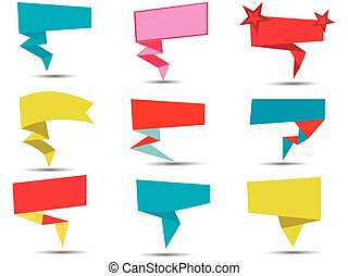 Callouts on a white background. Vector illustration.