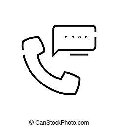 Calls line icon, concept sign, outline vector illustration, linear symbol.