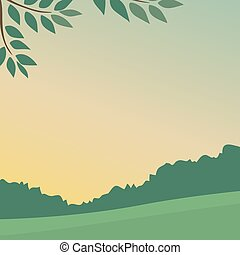 Calm and peaceful summer forest landscape