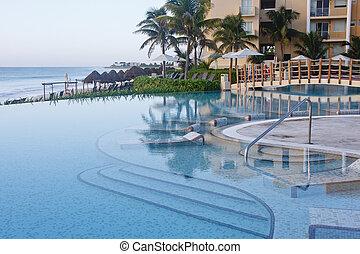 Calm Blue Pool by Dawn Beach
