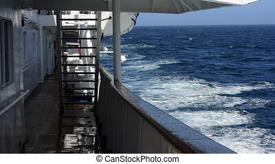 Calm Drake passage travel on ship