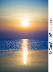 Calm evening sea