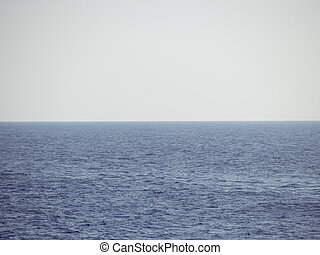 Calm foggy ocean - nothing on the horizon