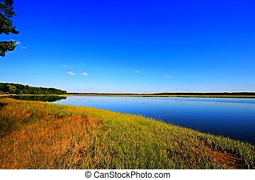 Calm marsh 2 HDR - Marsh land in Scarborough Maine at high...