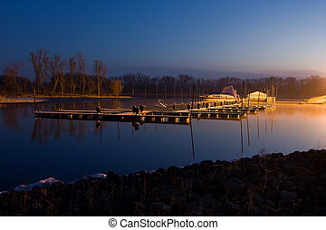 Calm Morning at the Boat Dock