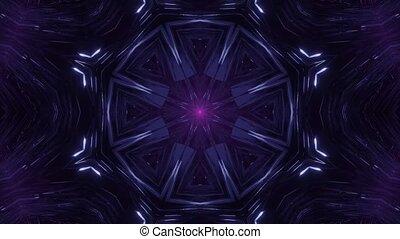 Calm Motion of Smoke in Dark Space 4k uhd 3d rendering vj loop
