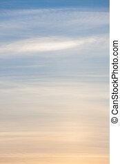 Calm natural evening sky scape - Calm natural evening cloudy...