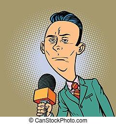 calm neutral reporter correspondent journalist male....