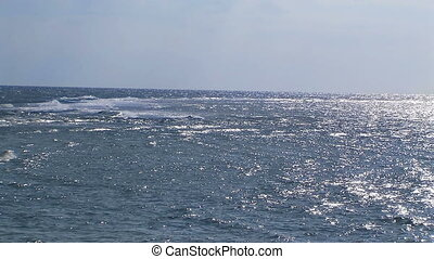 Calm ocean with blue sky . - Calm ocean with blue sky and...
