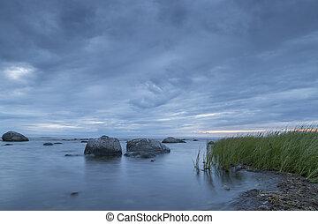 Calm Ocean with Rocks