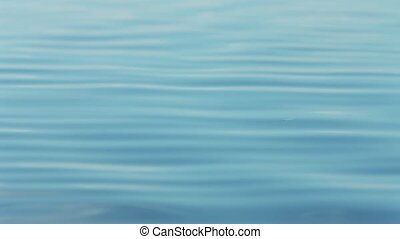 calm on the sea in the morning sun - Blue water in the...