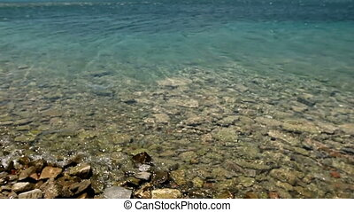 Calm on the sea near the island of Spinalonga. Wonderful sea...