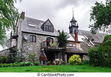 Calm place in small belgium village