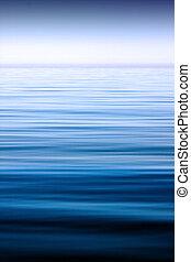 Calm sea - A scene with calm sea extending to the horizon,...