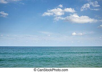 Calm Sea and Clear blue sky