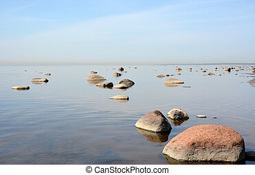 Calm sea at sunny day