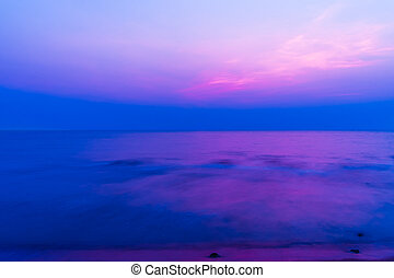 calm sea at twilight