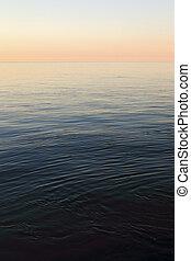 Calm Sea - Calm sea at Helgoland in evening light.
