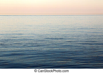 Calm Sea - Calm sea at Helgoland in evening light.