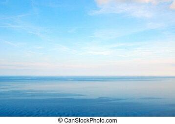 calm sea - calm sea with nice blue sky