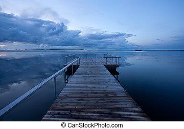 Calm sea evening photo
