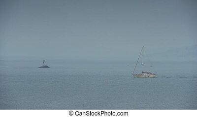 Calm sea water nature