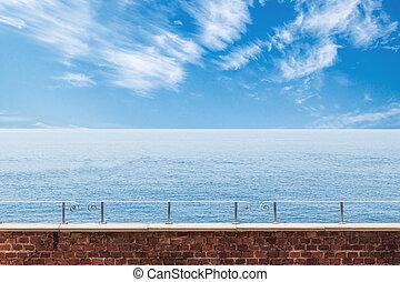 Calm seascape view