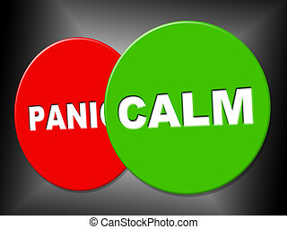 Calm Sign Means Relaxed Relax And Peace