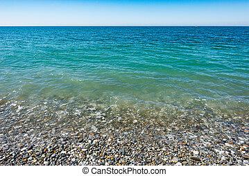Calm surface of the ocean.