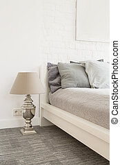 Calm tones swaying into dreams - Large bedroom in bright...